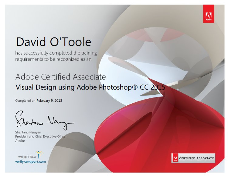 Adobe Certified Associate CERT - ursadesigns - JPG - Photoshop Gimp